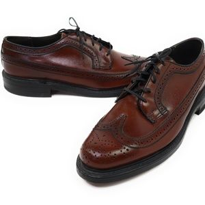 VINTAGE FLORSHEIM MEN'S BROWN LEATHER OXFORD Shoes